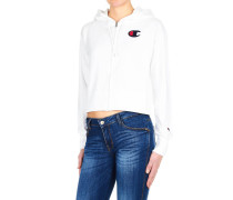 Cropped Sweatshirt mit Reißverschluss