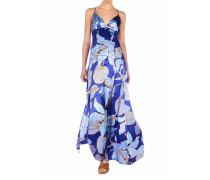 Maxi Seidenkleid mit floralem Muster