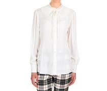 Bluse aus Seidengemisch mit Plisseè-Details