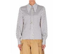 Bluse mit Polka Dot Print