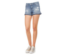 Jeans Shorts mit Strass