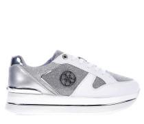 Platform-Sneaker mit Glitzer-Finish