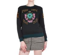Sweatshirt mit Stickereien und Patches
