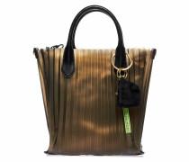 Handtasche mit Plisseedetail
