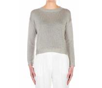 Lurex-Pullover mit Rundhalsausschnitt