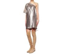 Metallic-Look Kleid