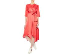 Asymmetrisches Kleid aus Satin