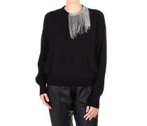 Pullover mit Strass-Fransen