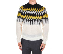 Gemusterter Sweater aus Alpakagemisch