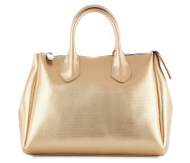 Handtasche aus Gummi im Metallic-Look
