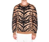 Leichter Pullover mit Animalprint