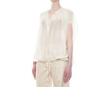 Bluse aus Baumwoll-Seide-Gemisch