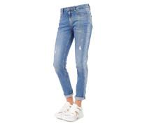 Jeans mit Logo und Strass Details
