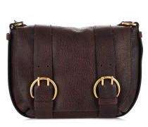 Satteltasche aus genarbtem Leder