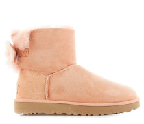 Ankle Boots Fluff Bow Mini