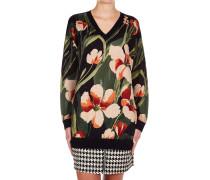 Strickpullover mit floralem Muster