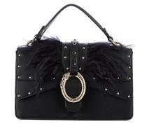 Handtasche mit Federdetail