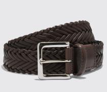Cintura Marrone Intrecciata