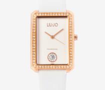 Armbanduhr aus Leder