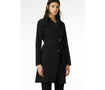 Trenchcoat 'Black shine'