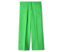 Hosen mit weitem Bein - Grün