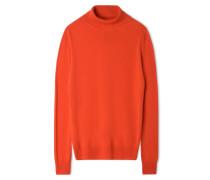 Pullover mit Rollkragen - Rot