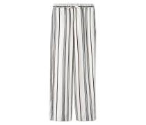 Hosen mit weitem Bein - Weiß