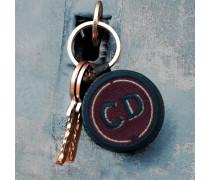 Schlüsselanhänger INITIALEN bordeaux - Patches & Accessoires: hochwertig bestickt