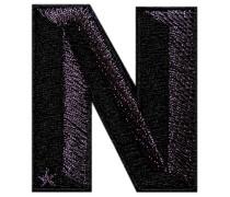 Label SINGLE LETTER · anthrazit metallic/black - Patches & Accessoires: hochwertig bestickt