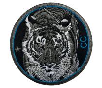 Label Tiger · 9cm · blau - Patches & Accessoires: hochwertig bestickt