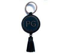 Schlüsselanhänger INITIALEN · anthrazit metallic/marine · mit Tassel