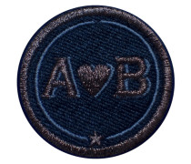 Label LOVE · 4cm · anthrazit metallic/marine
