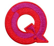 Label SINGLE LETTER · rot/pink - Patches & Accessoires: hochwertig bestickt
