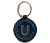 Schlüsselanhänger ABC anthrazit metallic/marine - Patches & Accessoires: hochwertig bestickt