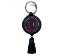 Schlüsselanhänger INITIALEN · bordeaux · mit Tassel - Patches & Accessoires: hochwertig bestickt