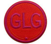 Label INITIALEN · 9cm · rot/pink