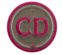 Label INITIALEN · 9cm · beige · personalisierbar - Patches & Accessoires: hochwertig bestickt