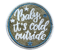 Label LABEL BABY IT'S COLD OUT THERE: - Patches & Accessoires: hochwertig bestickt