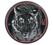 Label Tiger · 9cm · pink - Patches & Accessoires: hochwertig bestickt