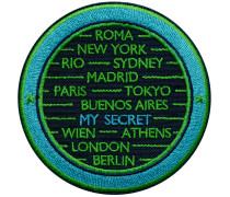 Label CITIES · türkis/grün · personalisierbar - Patches & Accessoires: hochwertig bestickt