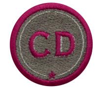 Label INITIALEN · 4cm · beige · personalisierbar - Patches & Accessoires: hochwertig bestickt
