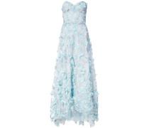 Abendkleid mit floralem Design - Blau