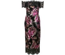Hautenges Kleid mit Pailletten - Schwarz