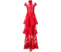 Abendkleid im Lagen-Look - Rot