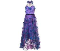 Kleid mit Blumenstickerei - Lila