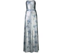Schulterfreies Paillettenkleid - Blau