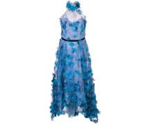Geblümtes Abendkleid - Blau