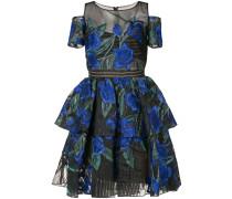 Florales Kleid im Lagen-Look - Blau