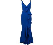 Abendkleid mit tiefem V-Ausschnitt - Blau