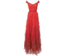 Schulterfreies Abendkleid - Rot